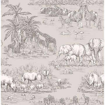 Picture of Durban Grey Watering Hole Wallpaper