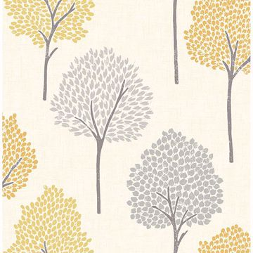 Picture of Andover Mustard Eula Wallpaper