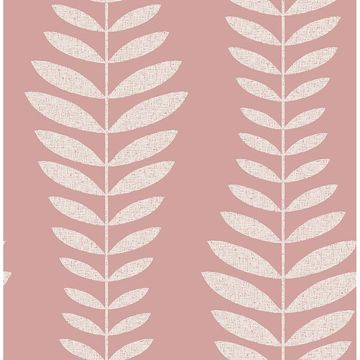 Picture of Sandnes Coral Leaf Stripe Wallpaper