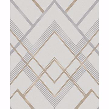 Picture of Bradford Grey Geometric Wallpaper