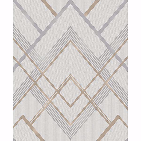 Picture of Bradford Grey Geometric Wallpaper