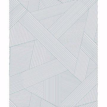Picture of Preston Light Grey Geometric Wallpaper