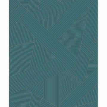 Picture of Preston Teal Geometric Wallpaper