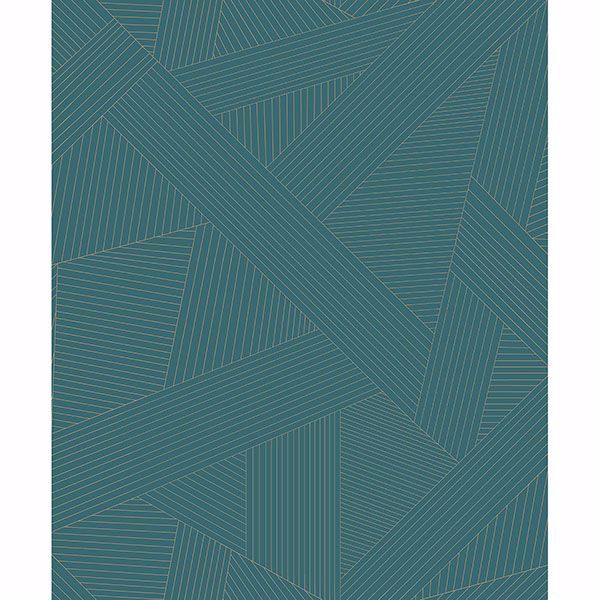 Picture of Preston Teal Geometric Wallpaper