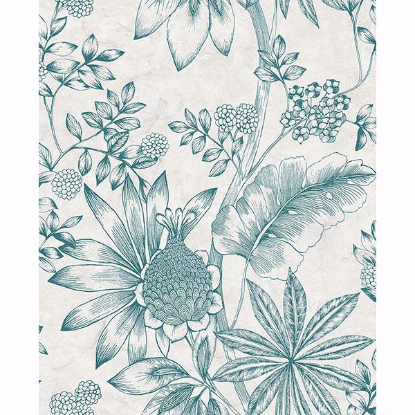 Picture of Kenitra Cream Botanical Wallpaper