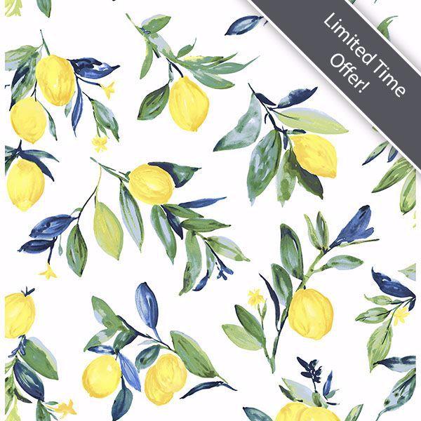 Lemon Drop Yellow Peel And Stick Wallpaper