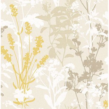 Picture of Conant Light Yellow Wild Flowers Wallpaper