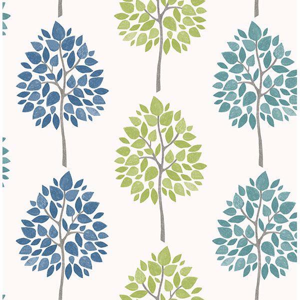 Picture of Tsai Multicolor Tree Wallpaper