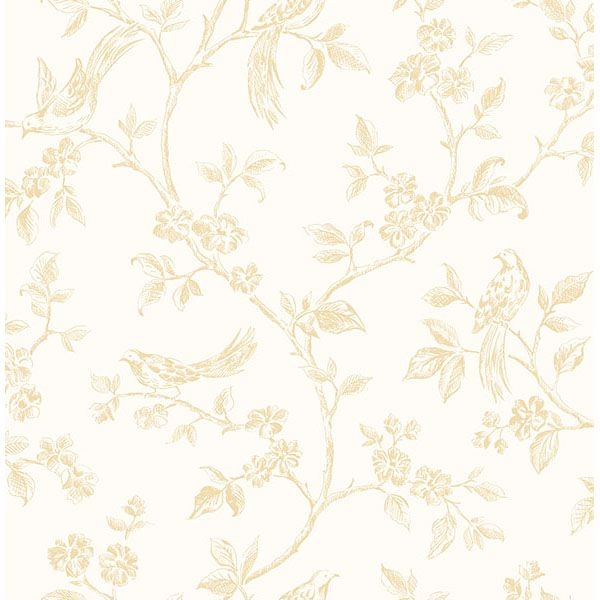 Picture of Ray Light Yellow Bird Trail Wallpaper