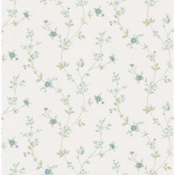 Picture of Sameulsson Light Blue Small Floral Trail Wallpaper