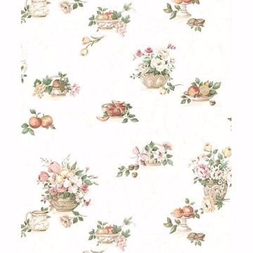 Picture of Puck Light Pink Fruit Basket Wallpaper