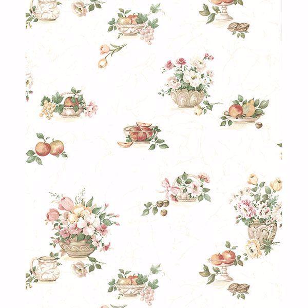 Puck Light Pink Fruit Basket Wallpaper