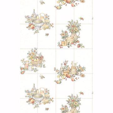 Picture of Giada Off-white Fruit Basket Tile Wallpaper