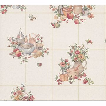 Picture of Giada Multicolor Fruit Basket Tile Wallpaper