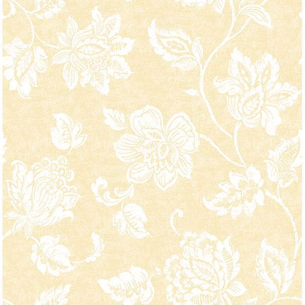 Picture of Guy Light Yellow Jacobean Wallpaper