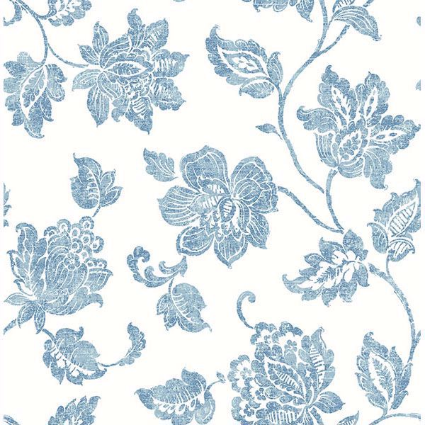 Picture of Guy Blue Jacobean Wallpaper
