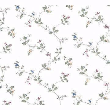 Picture of Ree Multicolor Mini Floral Trail Wallpaper