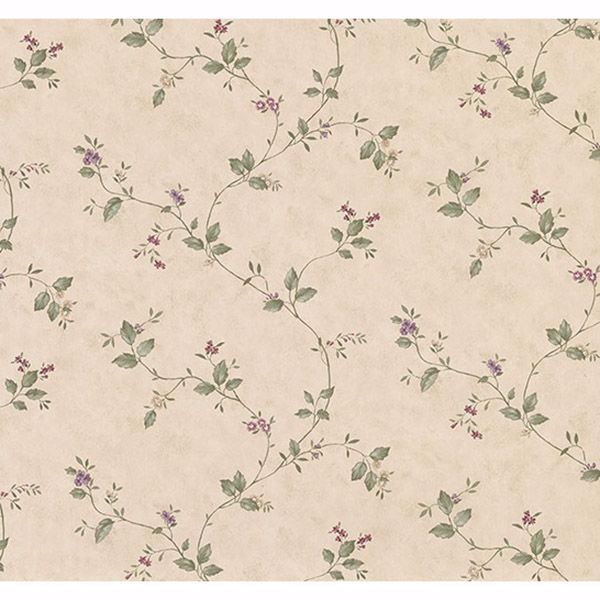 Picture of Ree Beige Mini Floral Trail Wallpaper