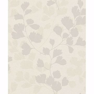 Picture of Ripert Light Grey Leaf Silhouette Wallpaper