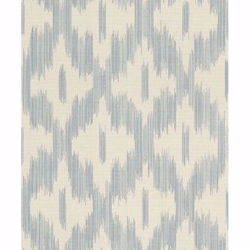 Picture of Keller Light Blue Ogee Wallpaper