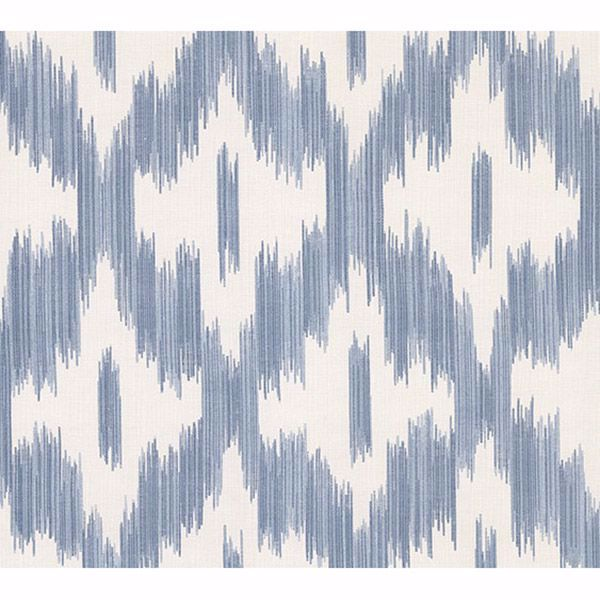 Picture of Keller Blue Ogee Wallpaper