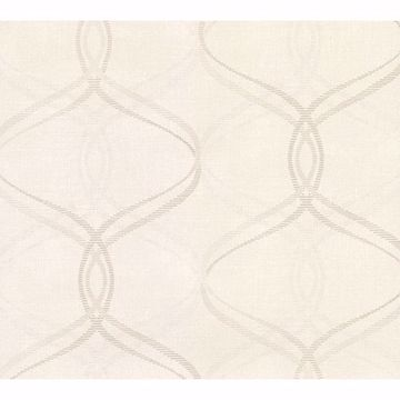 Picture of Waters Cream Ogee Wallpaper