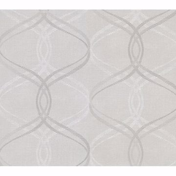 Picture of Waters Light Grey Ogee Wallpaper