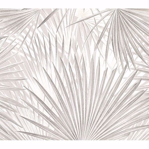 Picture of Ducasse Light Grey Palms Wallpaper