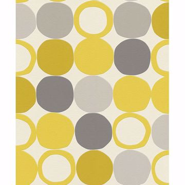 Picture of Beard Yellow Geometric Wallpaper
