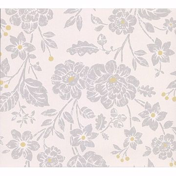 Picture of Bourdain Light Grey Floral Wallpaper