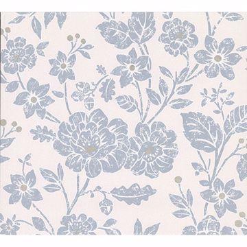 Picture of Bourdain Slate Floral Wallpaper
