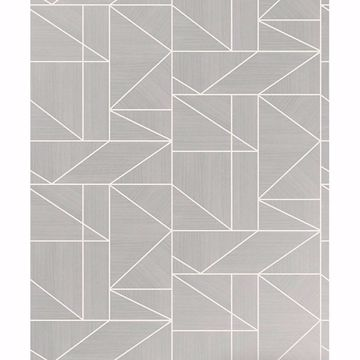 Picture of Ina Silver Geometric Wallpaper