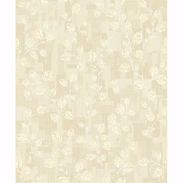 Picture of Child Cream Leaf Patchwork Wallpaper