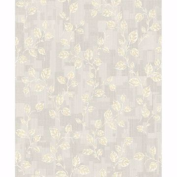 Picture of Child Light Grey Leaf Patchwork Wallpaper