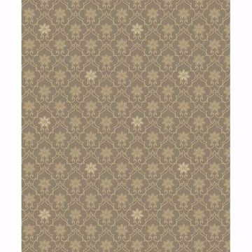 Picture of Heston Brown Trellis Wallpaper