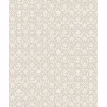 Picture of Heston Eggshell Trellis Wallpaper