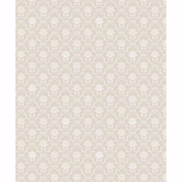 Picture of Heston Eggshell Trellis Wallpaper