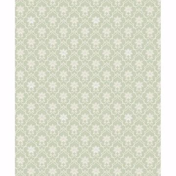 Picture of Heston Light Green Trellis Wallpaper