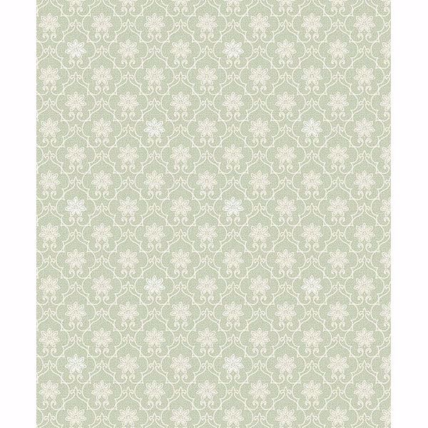 Picture of Heston Light Green Trellis Wallpaper
