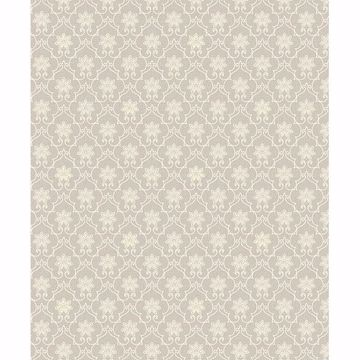 Picture of Heston Grey Trellis Wallpaper