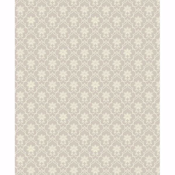 Picture of Heston Grey Trellis Wallpaper