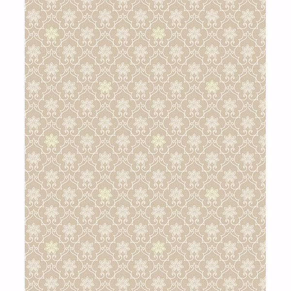 Picture of Heston Beige Trellis Wallpaper