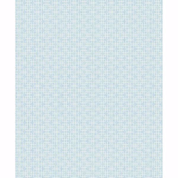 Picture of Garten Light Blue Geometric Wallpaper