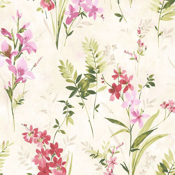 Picture of Turner Multicolor Watercolor Floral Wallpaper