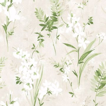 Picture of Turner Cream Watercolor Floral Wallpaper