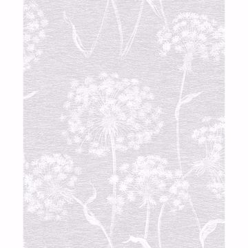 Picture of Garvey Light Grey Dandelion Wallpaper