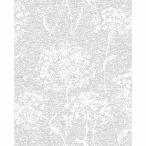 Picture of Garvey Light Grey Dandelion Wallpaper