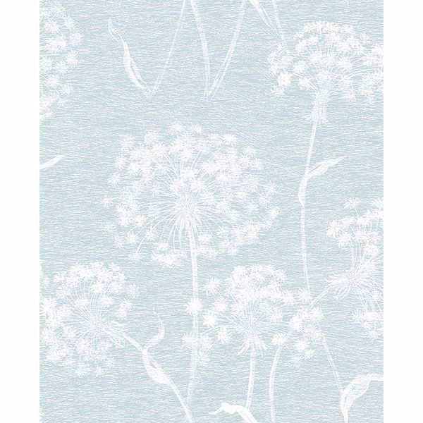 Picture of Garvey Light Blue Dandelion Wallpaper