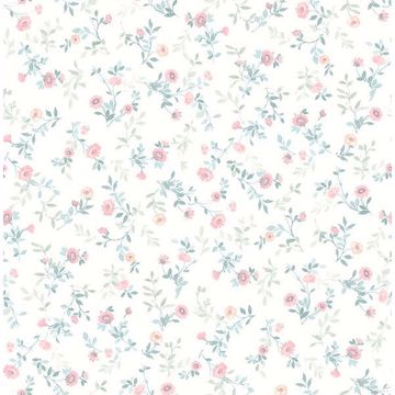 Picture of Catlett Light Pink Floral Toss Wallpaper