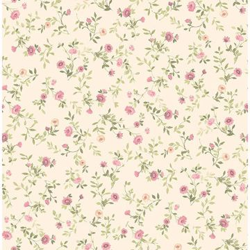 Picture of Catlett Pink Floral Toss Wallpaper